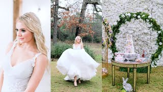 Bride for the Day! $14k Diamond Ring! Alice In Wonderland Bridal Photo Shoot Behind the Scenes