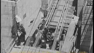 San Francisco Oakland Bay Bridge Construction Newsreel