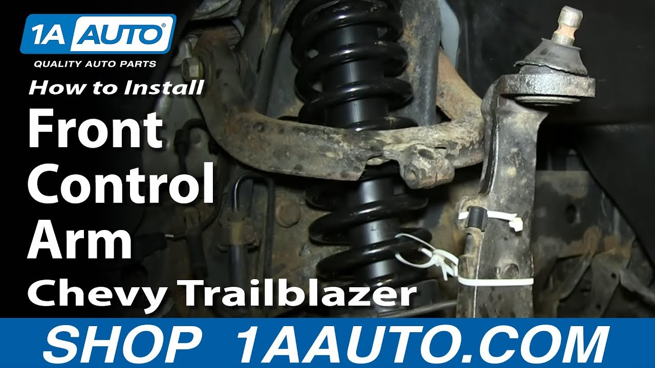 how to install replace upper front control arm 2002 09 gmc envoy chevy trailblazer youtube [ 1920 x 1080 Pixel ]