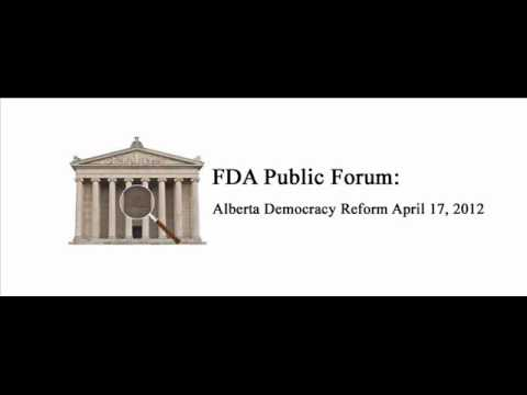 FDA Podcast on Public Forum for Alberta Democracy Reform