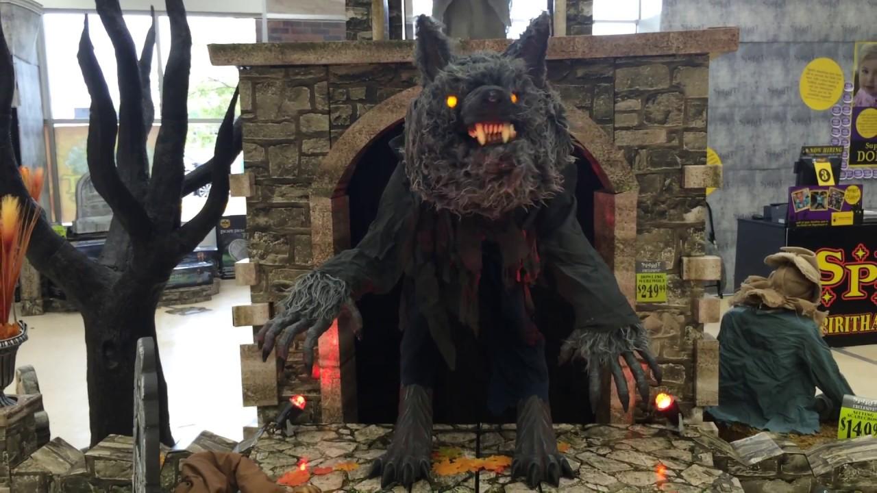 spirit halloween 2016 howling werewolf youtube - Spirit Halloween 2016