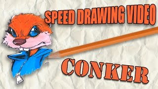 Speed Drawing Video: Conker