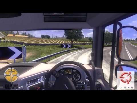 Euro Truck Simulator 2 - Gameplay -  Glasgow to Newcastle ferry