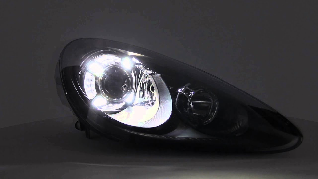 11 14 porsche cayenne 4 led projector headlights