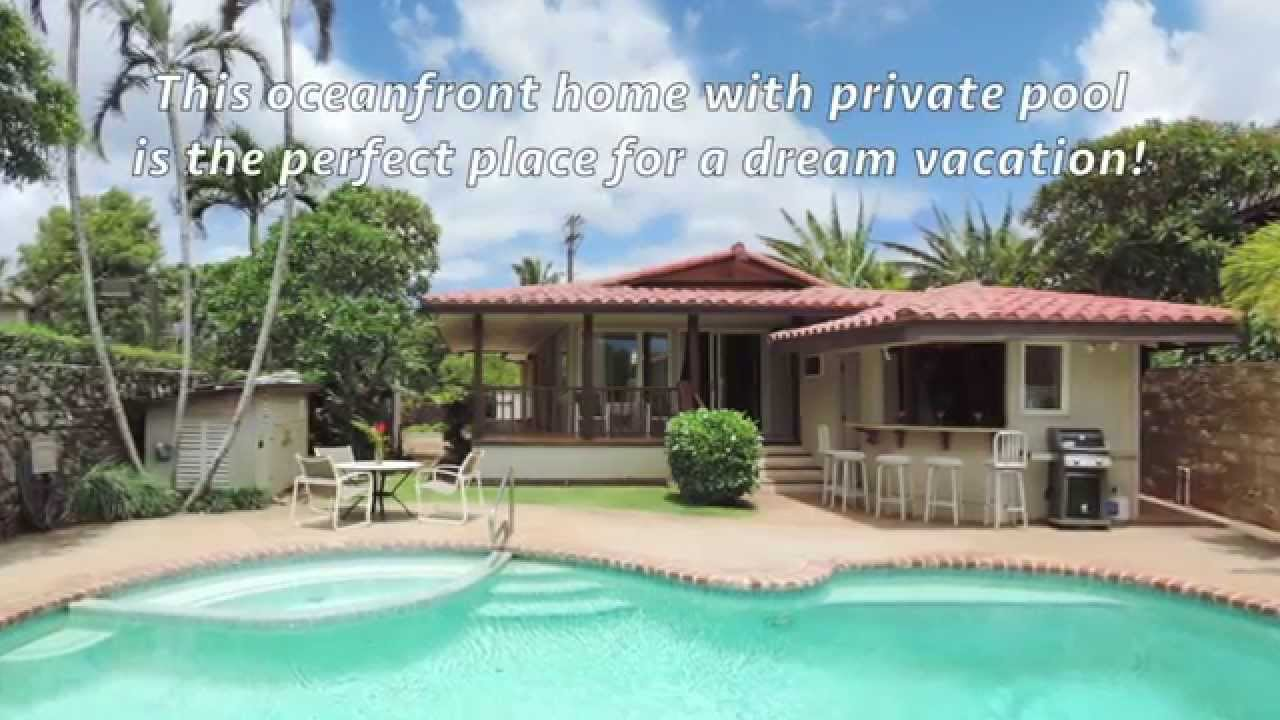 kauai direct oceanfront vacation home with private pool spa