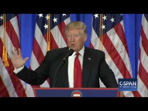 Donald Trump read information from intel, New York, NY, 1/11/17