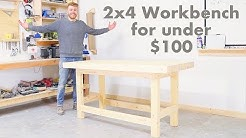 DIY 2x4 Workbench for Under $100 | Modern Builds | Woodworking