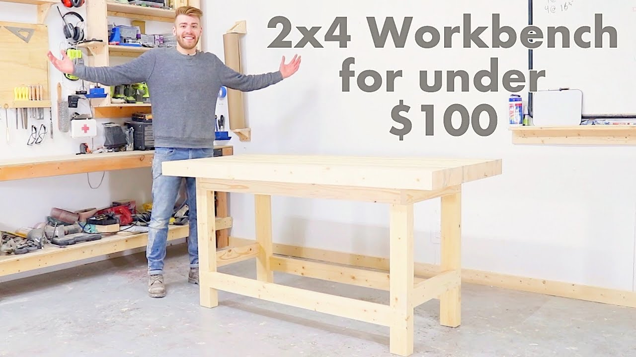 Diy 2x4 Workbench For Under 100 Modern Builds Woodworking Youtube