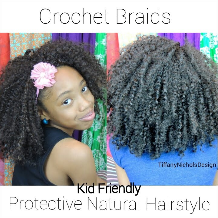 Crochet Hairstyles For Kids : Crochet Braids on Natural Hair (Kid Friendly) - YouTube