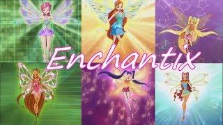 Winx Club~ Enchantix [Italian] (Lyrics)