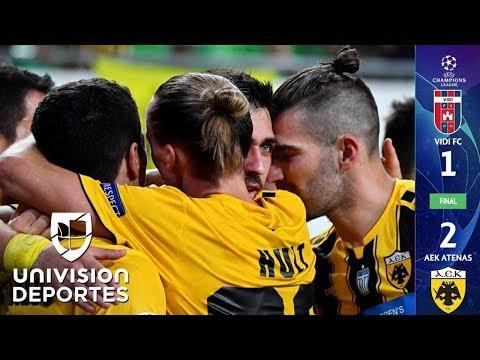 RESUMEN EXTENDIDO: Vidi FC 1-2 AEK Athens - Play-Offs UEFA Champions League