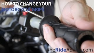 How to Change your Motorcycle Grips - Remove Motorcycle Grips - Install New Motorcycle Grips