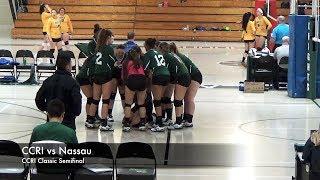 CCRI Women's Volleyball Highlights vs Nassau CC 9-15-18