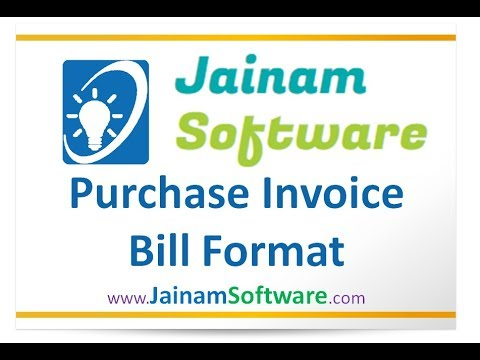 Create Bill Format From Report  Bill Format  Purchase Invoice