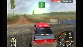 """Colin McRae Rally 2005"" Playstation 2 (PS2) opening and gameplay (no commentary, no logos)"