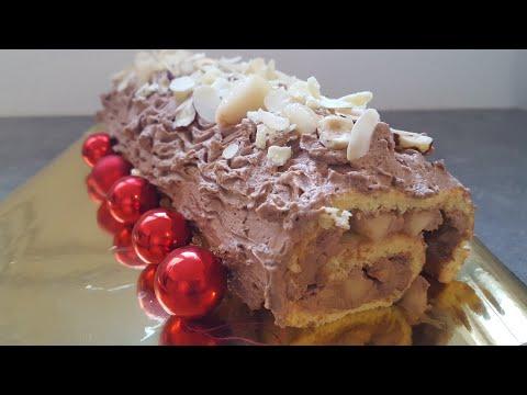 ☆☆-bÛche-de-noËl-mascarpone-poire-/-choco-recette-facile-!!-☆☆-(-cuisine-erika-)