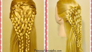 Woven Pie Crust Hair Tutorial! Holiday Hairstyles