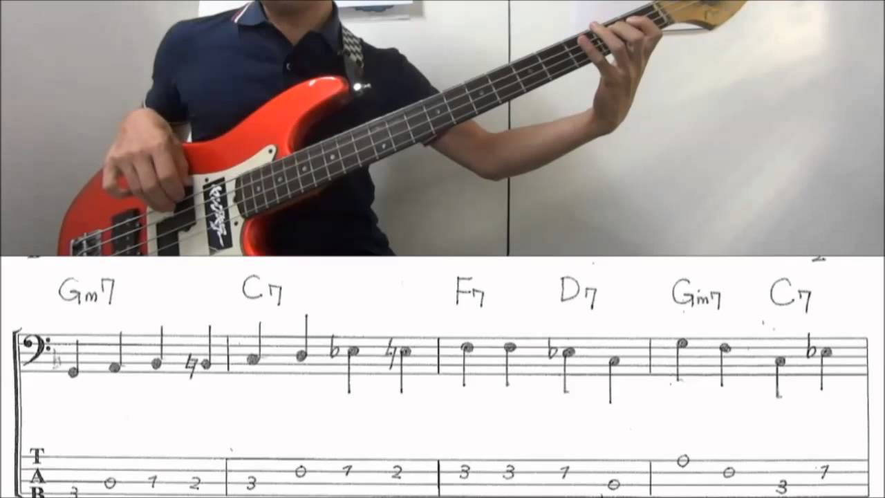 Bass Lines To Learn : walking bass line lesson on f blues with score and tab youtube ~ Hamham.info Haus und Dekorationen
