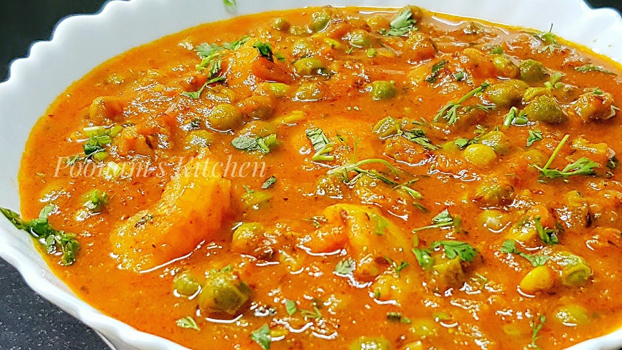 Aloo Matar Curry Dhaba Style Tips To Keep Matar Green While Boiling How To Make Aloo Matar Sabji Youtube