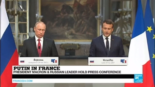 Macron in Versailles: Ukraine conflict must be de-escalated