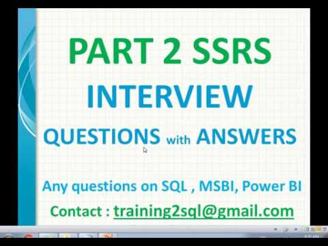SSRS Interview Questions with Answers Part 2
