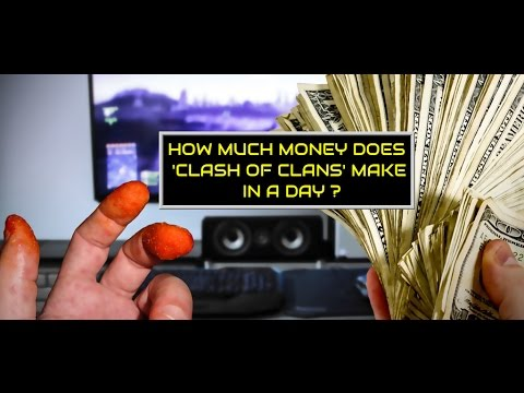 How Much Money Does 'Clash Of Clans'(SUPERCELL) Make In A Day?