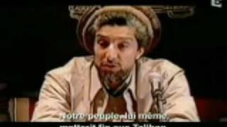 Ahmad Shah Massoud Warns U.S. President Bush in Paris - France
