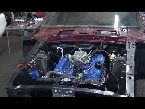 Engine Compartment Detailing 1969 Mustang Restoration Part 48 - YouTube