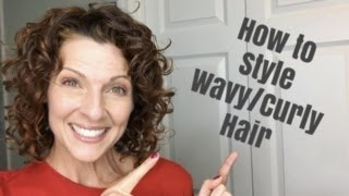 How to Style Short Wavy/Curly Hair