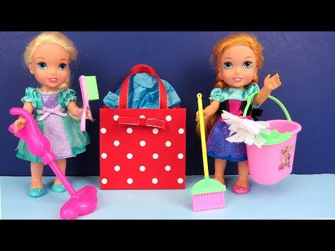 Mother's Day ! Elsa and Anna toddlers - Surprise - Cleaning - Gifts