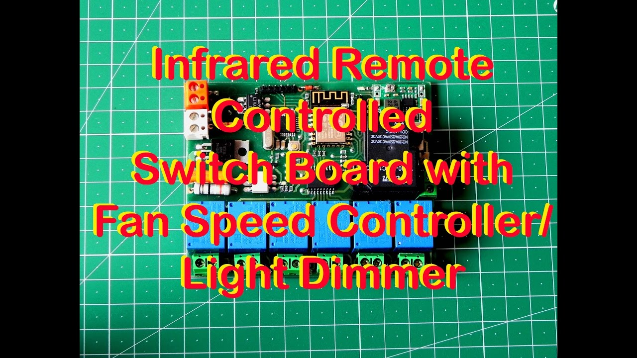 Infrared Remote Controlled Switch Board With Fan Sd Controller Light Dimmer