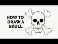 How to Draw a Skull - Easy Step-by-Step Drawing Tutorial