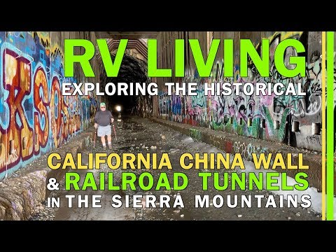 RV LIVING-EXPLORING THE CALIFORNIA CHINA WALL-DONNER SUMMIT, TRUCKEE,CALIFORNIA-NEAR LAKE TAHOE-EP74