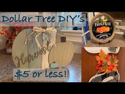 Dollar Tree DIY/ Farmhouse Décor/ $5 or Less/ Fall Decor