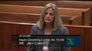 Judge Collins Reprimanded by the Florida Supreme Court