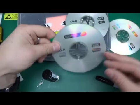 DIY hacked CD LED mood lamp / night light - Full build - Part 1