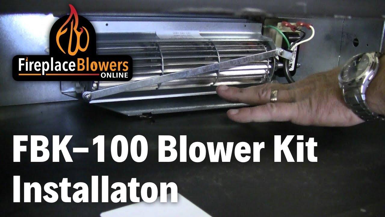 FBK100 Fireplace Blower Fan Kit Installation for Lennox and Superior  YouTube