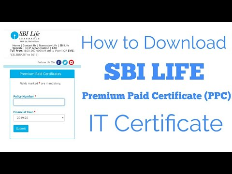 How to download SBI Life Premium Paid Certificate (PPC ...