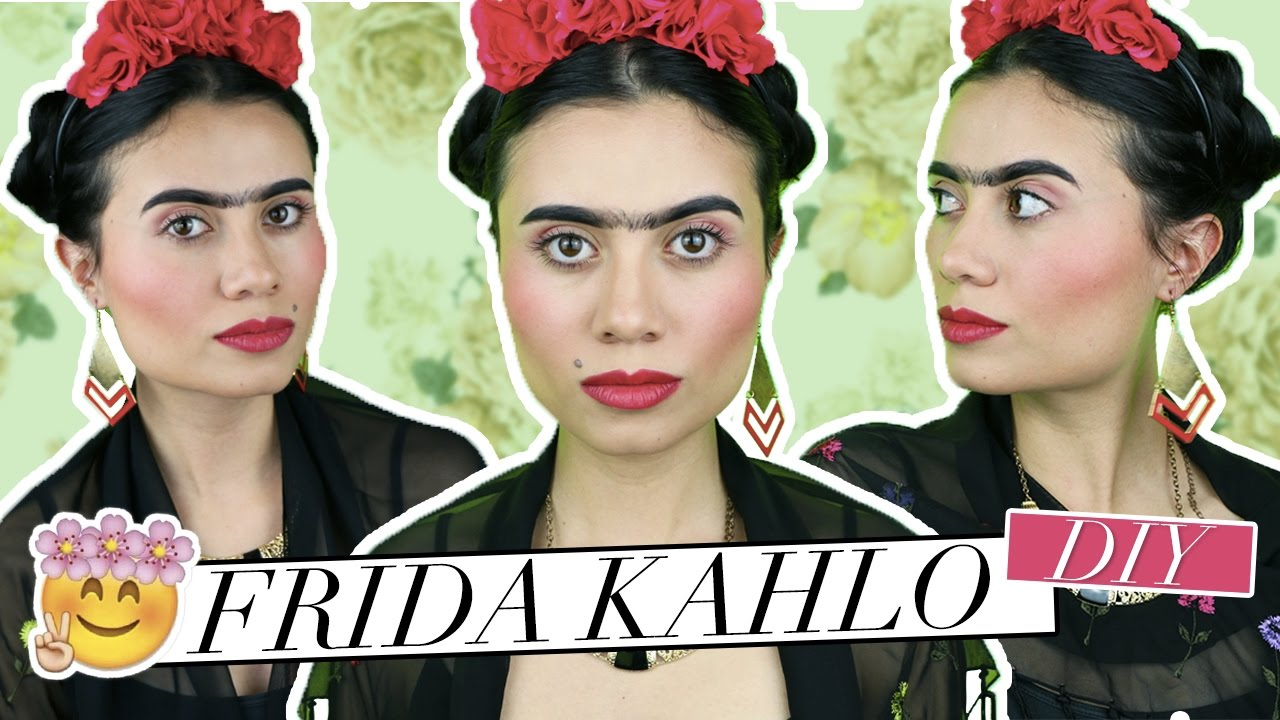 Disfraces Para Halloween Frida Kahlo Tutorial Creativos Y De última Hora Paulettee Youtube