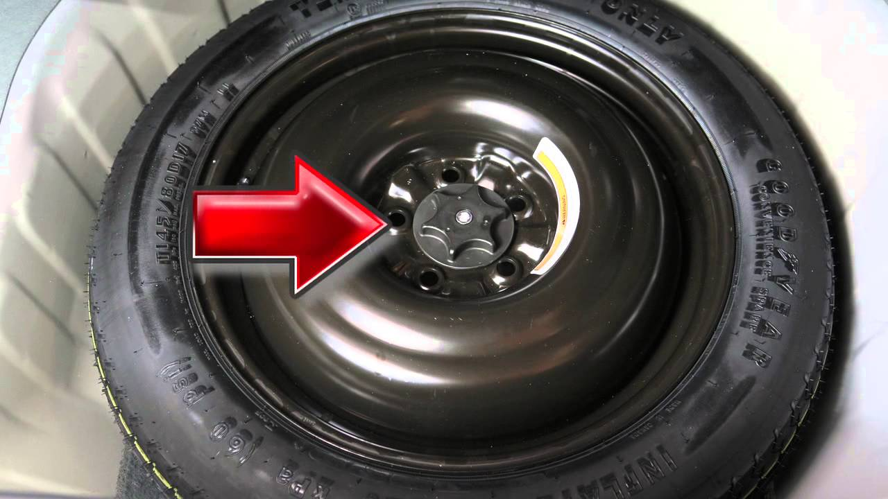 2012 nissan maxima spare tire and tools youtube