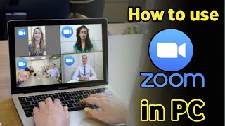 how to use zoom cloud meeting app in pc | install zoom app in pc | How to use zoom app in pc