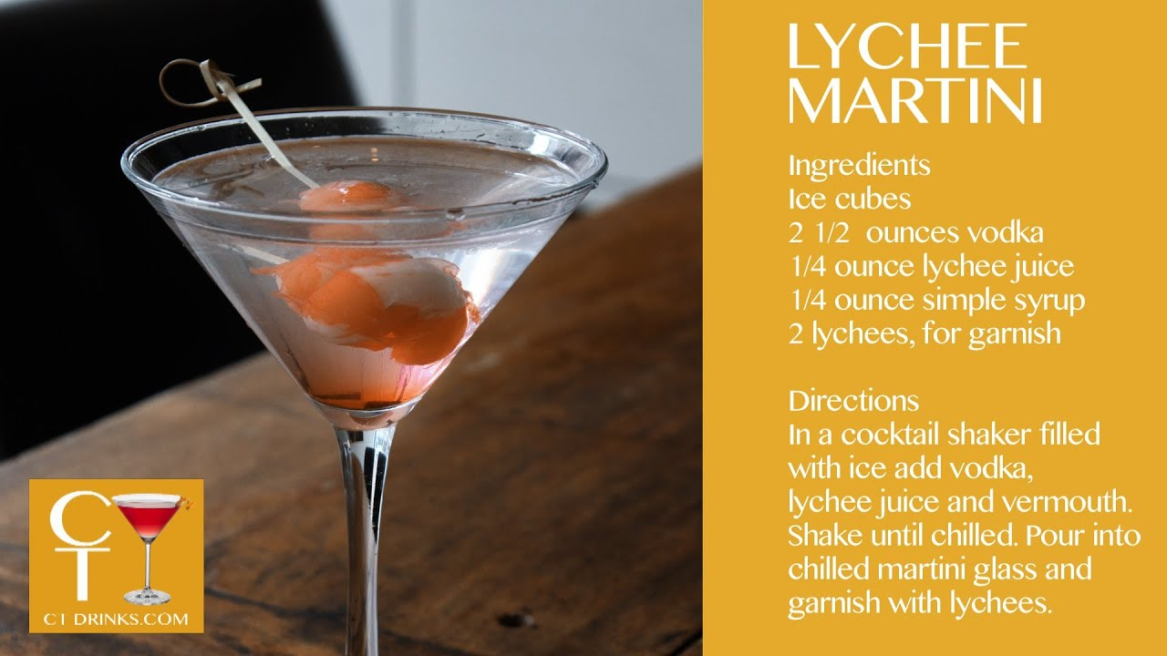 Bentara new haven lychee martini youtube for Cocktail litchi