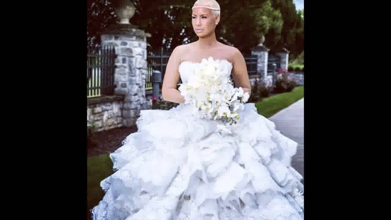 Amber Rose reveals her Pnina Tornai wedding dress lovely or trashy ...