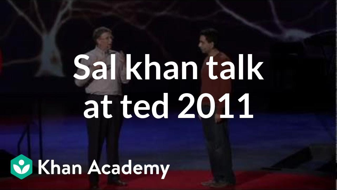 Salman Khan TED Talk 2011 (from ted.com)