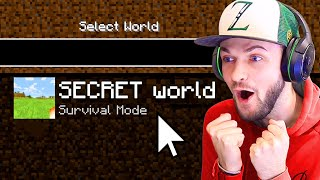 Welcome to my SECRET Minecraft world... (Part 1)