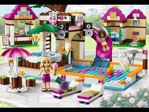 Lego friends piscine youtube for Piscine playmobil