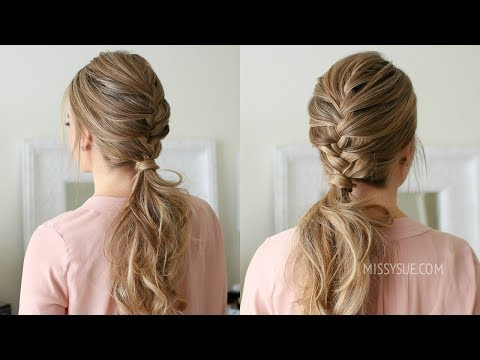 French Braid Ponytail Missy Sue hairstyles