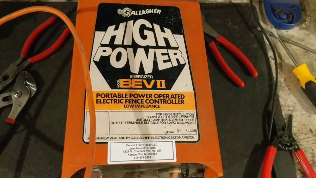 Gallagher Bev2 Electric Fence Charger Youtube