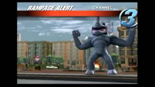 (Longplay #2) (Wii) Rampage: Total Destruction (Part 1 of 2)