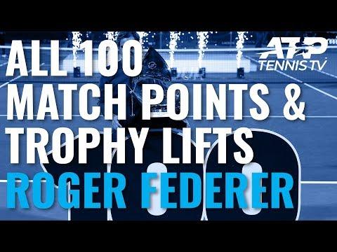 Roger Federer's 100 Titles: Championship Points & Trophy Lifts!